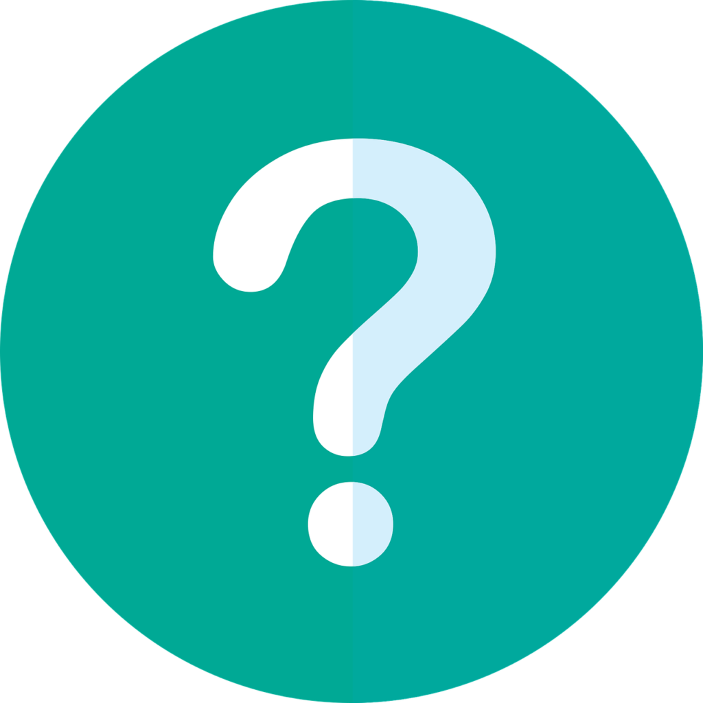 Green circle with a white question mark